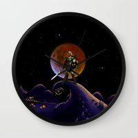 lannister Wall Clocks featuring Nightmare Halloween Zelda Link  by alexa
