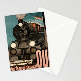 retro retro oui loi sur la duree du travail notre responsabillite est grande aidez poster Stationery Cards