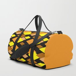 Black and yellow abstract pattern. Diamonds . Duffle Bag