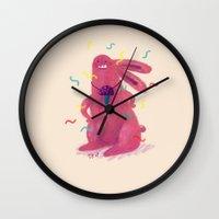 trip Wall Clocks featuring Trip by Vikte Eziukas