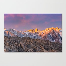 First Light on Mount Whitney Canvas Print