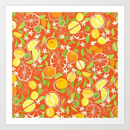 Citrus Squeeze Art Print