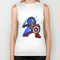 captain Biker Tanks featuring Captain by red monster studios
