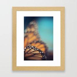 On the edge of Flying Framed Art Print