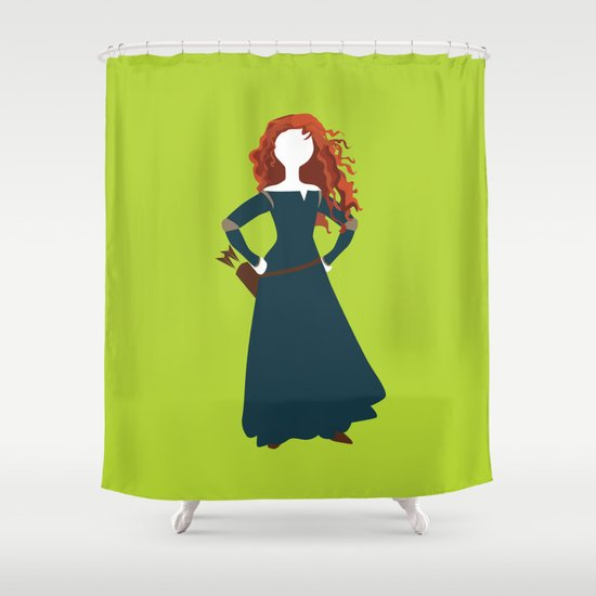 Merida from the Brave Shower Curtain