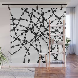 Trapped Black on White Wall Mural