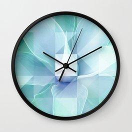 Soft Geo Agave - Aqua and blue Wall Clock