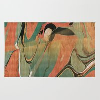utah Area & Throw Rugs featuring Abstract Painting ; Utah #2 by bialy kot art