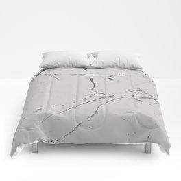 light grey modern marble Comforters