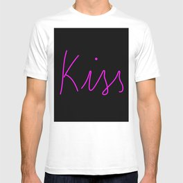 Kiss Neon Typography T-shirt