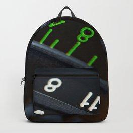 Retro photo camera lens Backpack