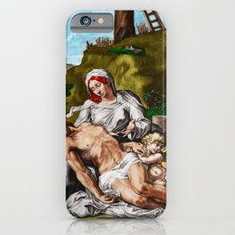 """""""And so it is"""" - The Death of Jesus Landscape Painting by Jeanpaul Ferro iPhone Case"""