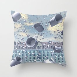 A Muggy Day In Paris Throw Pillow