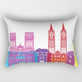 Caen skyline pop Rectangular Pillow