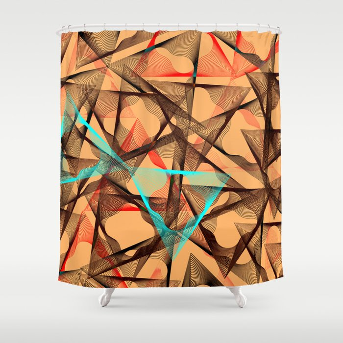 geometri art Shower Curtain