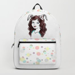 Girl with Rabbit Ears Backpack