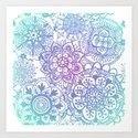 Pastel Mandala Pattern by julieerindesigns