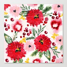 Christmas Floral Canvas Print