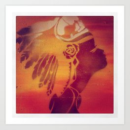 Spray paint headdress  Art Print