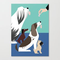 The Treat for Handsome Devil Press Canvas Print
