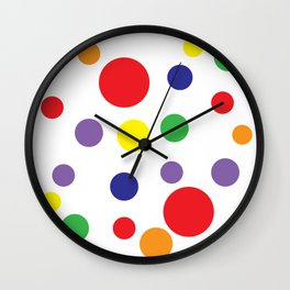 Rainbow Pop Wall Clock