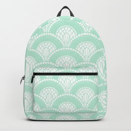 Mint Green Scallop Geometric Arches Backpack