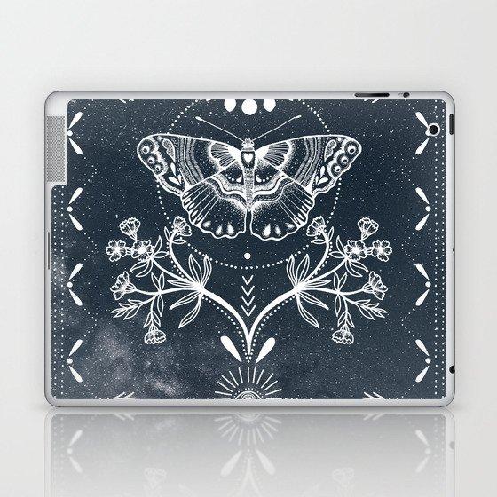 Magical Moth White Laptop & iPad Skin