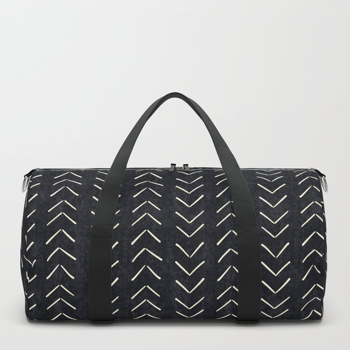 Mudcloth Big Arrows in Black and White Duffle Bag