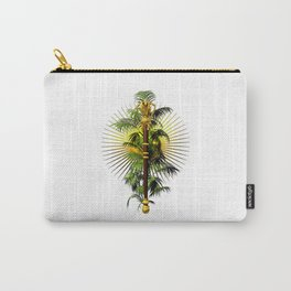 growing power, royal scepter with palm tree in front of aureole Carry-All Pouch