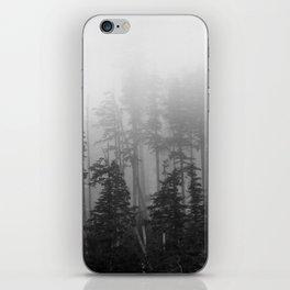 Foggy Forest Chinook Washington Grey Photography Print Misty Northwest iPhone Skin