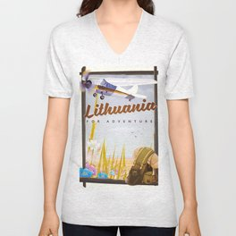 lithuania For an adventure Unisex V-Neck