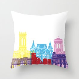 Saint Etienne skyline pop Throw Pillow