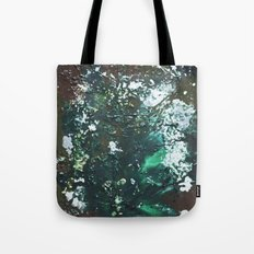 Green abstract liquidity. Tote Bag