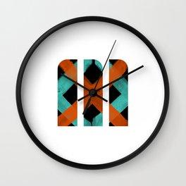 M Crisscross Wall Clock