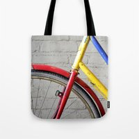 bike Tote Bags featuring Bike by Marieken