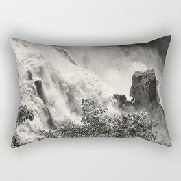 Strength against the waterfall Rectangular Pillow