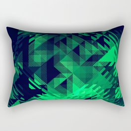 Green Screen Abstract Design Rectangular Pillow