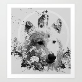 Wolfisticated Art Print