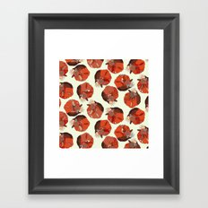 curled fox polka ivory Framed Art Print