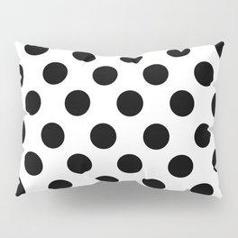 Black and White Medium Polka Dots Pillow Sham