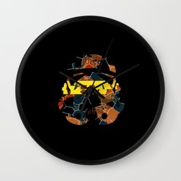 Stormtrooper Contrast Pattern Wall Clock