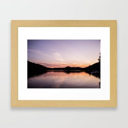 Sunset in the Laurentides, Canada Framed Art Print