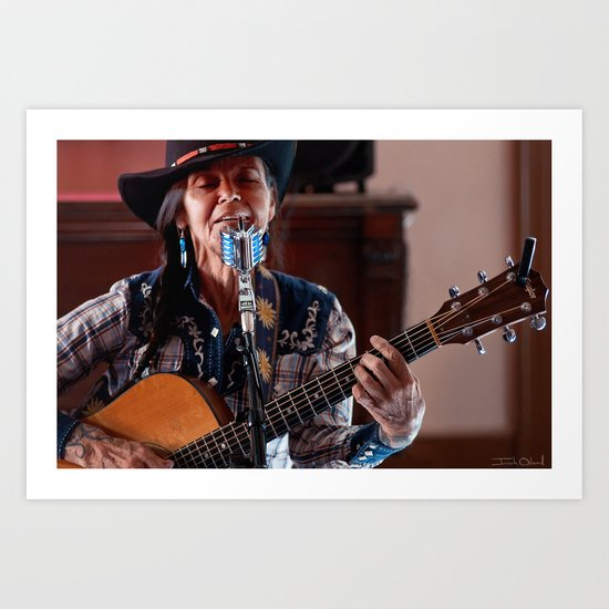 Terry Wolf - Cowgirl Rancher Songwriter Individual Art Print