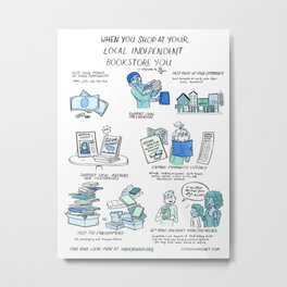 Support Your Independent Bookstore Metal Print