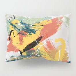 Intuitive Conversations, Abstract Mid Century Colors Pillow Sham
