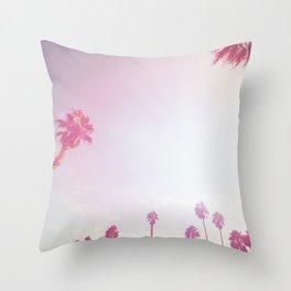 Pinky California Palms Throw Pillow