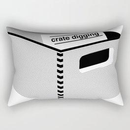 Crate digging (dark p Rectangular Pillow
