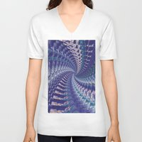 psych V-neck T-shirts featuring Purple Psych v2 by Grace
