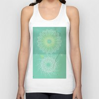 morocco Tank Tops featuring Morocco Mint by ZenaZero