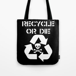 Recycle White Tote Bag